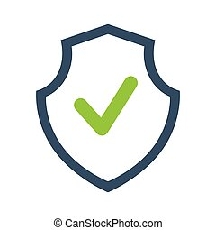 shield security guard isolated icon vector illustration...