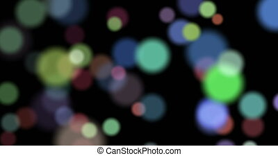 Colored bokeh effect - Moving blurred particles. Abstract...