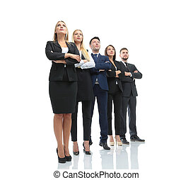 Successfull busines team isolated on white background - Team...