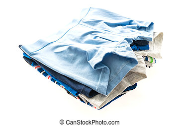 Underwear or Underpants and clothing for men isolated on...