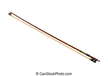 Violin bow isolated on white background