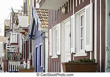 casas,  aveiro, colorido