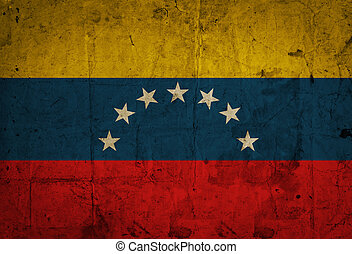 Venezuela grunge flag