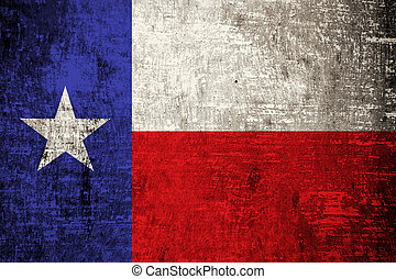 Texas State Flag painted on wood background