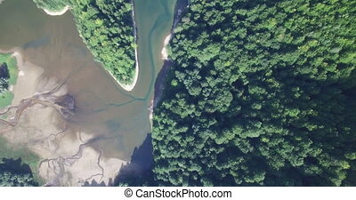 Aerial view of Biogradsko Lake, Biogradska Gora national...