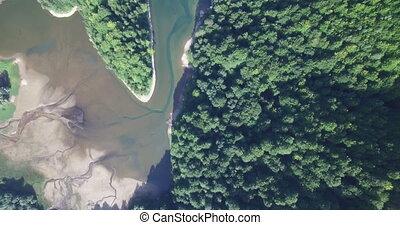 Aerial view of Biogradsko Lake, Biogradska Gora national...