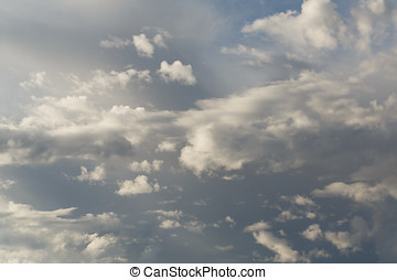 Partly Cloudy. Predicting the weather. - Cumulus clouds...