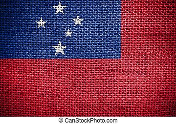 immagine, tela di sacco,  Samoa, bandiera, struttura