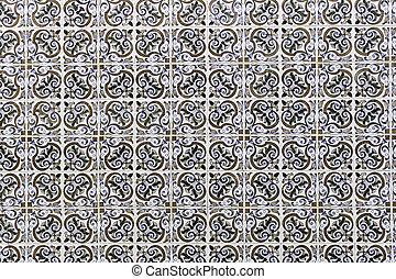 Modern dark tiles - Lisbon tile colors in urban facade...