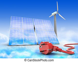 3d solar and wind energy