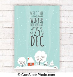 winter wonderland flat landscape - This design is suitable...