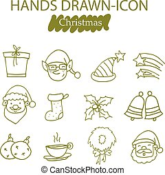 Collection of Christmas icons vector