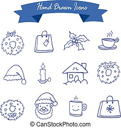 Vector art of Christmas icons collection