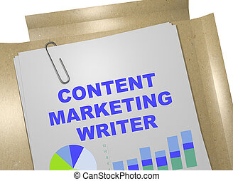 Content Marketing Writer concept - 3D illustration of...