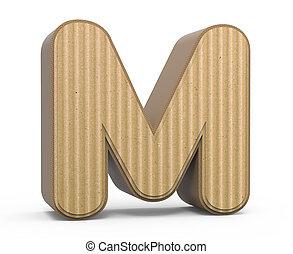corrugated letter M - left tilt corrugated cardboard letter...