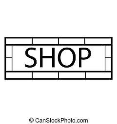 Modern shop sign - Vector illustration modern shop sign....