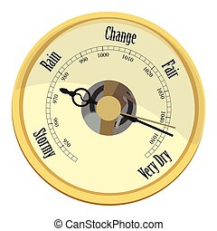 Golden barometer vector - Vector illustration golden aneroid...