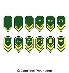 Epaulets, military ranks and insignia - Vector illustration...