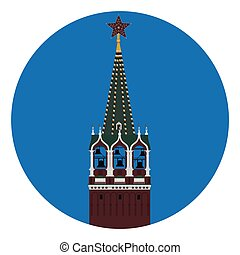 Kremlin tower vector - Vector illustration Spasskaya tower...