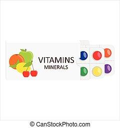 Vitamins concept vector
