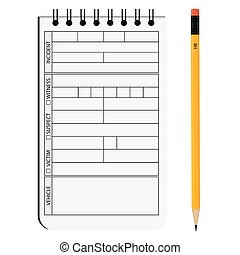 Detective notepad - Vector illustration detective notepad...