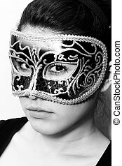 Incognito woman in mask - Beautiful incognito woman wearing...