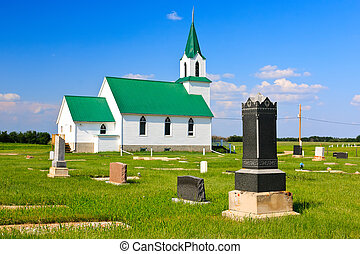 Country Church - Old church on the rural prairies West of...