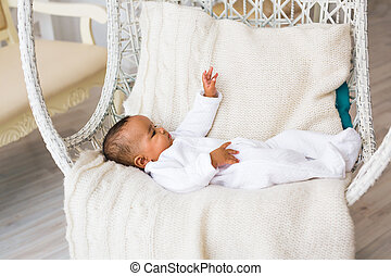 three month old African American baby boy - 3-month old...