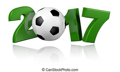 Football 2017 with a white background - Turning Football...