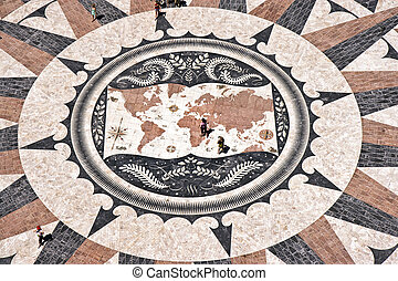 World Map Mosaic - The mosaic map, showing the discoveries...