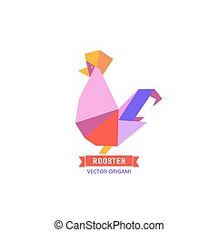 Cartoon cock icon. Abstract rooster sign. Freehand drawn...
