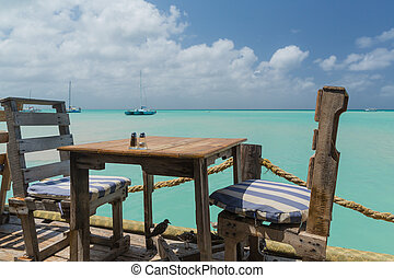 Table with a Sea View in Aruba - On Pelican Pier, an amazing...