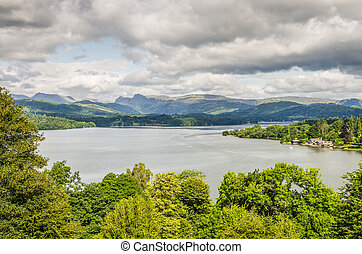 Lake Windermere from the South - View of Lake Windermere...