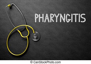 pizarra,  3D,  pharyngitis, Ilustración, manuscrito