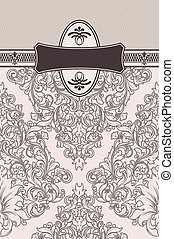 Decorative background with old-fashioned patterns.