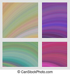 Colorful curved digital art page background set - Colorful...