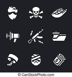 Vector Set of Sea pirates. - Pirate, skull and crossbones,...