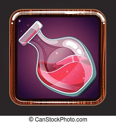 The application icon with bottle of elixir. Game design