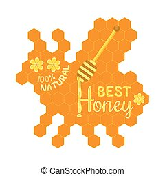 Honey label concept