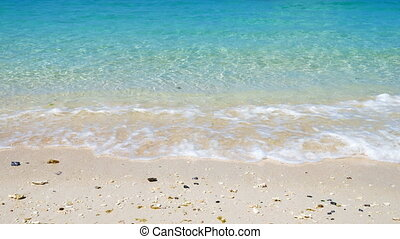 Turquoise water tropical seacoast - Tropical seacoast, very...