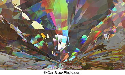 Facet loopable 3D animation - Abstract crystal or facet...