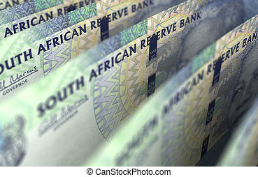 South African Rand Closeup