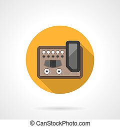 Guitar effects equipment round color vector icon - Guitar...