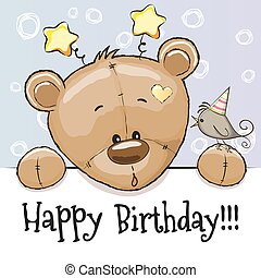 Birthday card with Teddy Bear