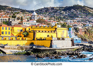 Old castle in Funchal, capital city of Madeira, Portugal