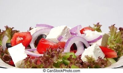 fresh vegetable greek salad (seamless loopable)