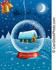 christmas celebration card - illustration of merry christmas...