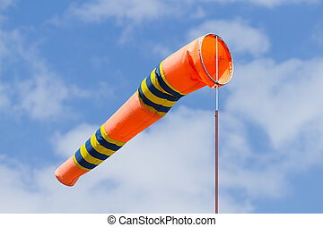 Windsock on the blue sky - Windsock the control of a wind...