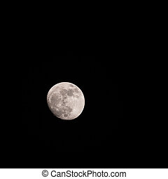 full moon with clear sky image.(Take photo 2 day before...
