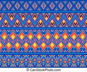 Decorative Greenland linen patterns as samples and vector...